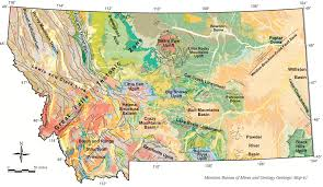 University Of Montana Campus Map by Regional Map Department Of Earth Sciences Montana State University