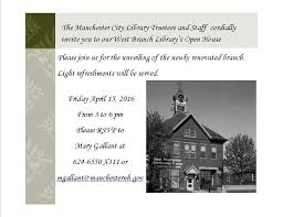 Open House Invitation An Invitation To Our West Branch Library Open House
