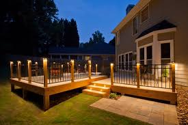 the brilliant as well as stunning deck post lighting regarding