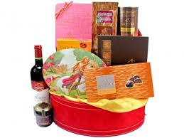 Wine And Chocolate Gift Basket Godiva Chocolate Gift Basket Delivery To Spain