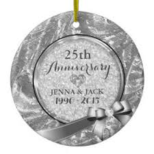 silver wedding anniversary tree decorations ornaments