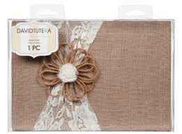 wedding guest registry book darice dt732gb david tutera burlap and lace guest book to