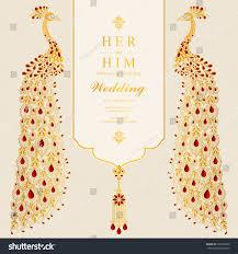 Indian Wedding Invitation Card Sample Indian Wedding Invitation Card Templates Gold Stock Vector