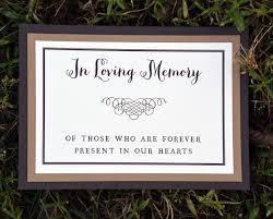 wedding memorial wording memorial or dedication table card mounted wiregrass