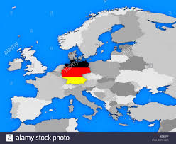 European Country Map by Political Map Europe Countries German Stock Photos U0026 Political Map
