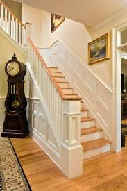 Wood Banister Double Stringer Oak Stair Staircase Craftsman With Balusters