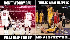 Chicago Bulls Memes - perfect meme to describe the difference between playing next to kobe