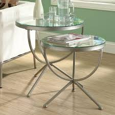 metal and glass end tables metal and glass 20 diameter round end table