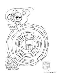 maze finding nemo coloring pages printable