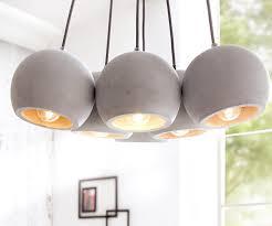 Esszimmer Lampe Beton Hängeleuchte Pentola 40 Cm Grau 6 Schirme Rund Beton Möbel