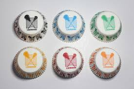 6 pack lacrosse cupcake liners 1 of each color