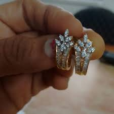 daily wear diamond earrings fab femina designer gold plated cz diamond austrian stud