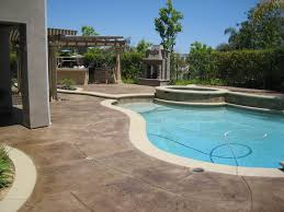 Concrete Patio With Pavers Staining Concrete Patio Paver Decorative Staining Concrete Patio