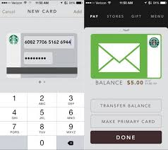 gift card apps how to add starbucks gift card to app