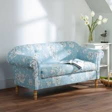 floral sofa rosie floral fabric 2 seater sofa couch settee blue button back