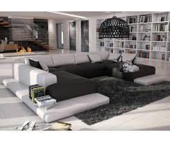 wohnlandschaft bethany 360x271 schwarz weiss ottomane links möbel - Design Wohnlandschaften