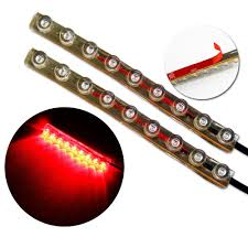 led light strip waterproof zitrades 2pack red color motorcycle car 9cm 9 led neon accent
