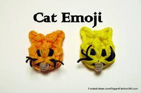 rainbow loom cat emoji emoticon charm by elegant fashion 360