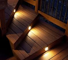 outdoor stair lighting for deck
