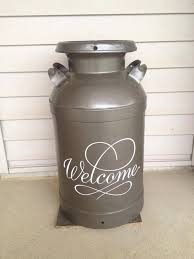 Old Milk Can Decorating Ideas Best 25 Painted Milk Cans Ideas On Pinterest Old Milk Cans