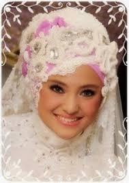 tutorial hijab syar i untuk pengantin model dan gaya hijab pengantin terbaru jawa dan syar i cara wanita