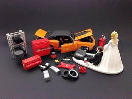 mechanic wedding cake topper auto mechanic and groom wedding cake