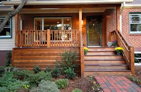 craftsman style porch mission style front porch in fairfax va