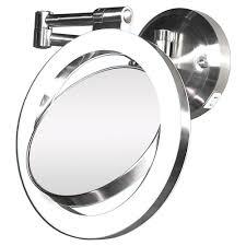 zadro surround light 10x 1x wall mirror in satin nickel halo