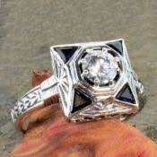 vintage reproduction silver filigree rings