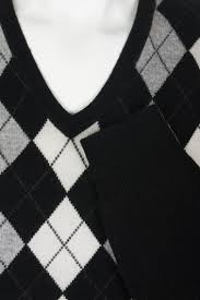 ladies cashmere argyle v neck sweater by scotweb