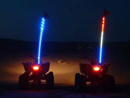 led light whip for atv tribal whips night stalker 6 led lighted whips