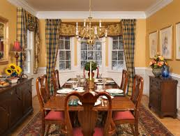 dining room beautiful table for bay windows no country fabric in