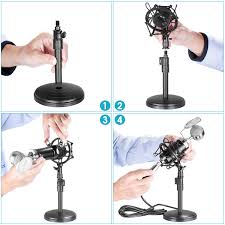 neewer nw 1500 desktop broadcast recording condenser microphone