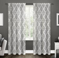 amazon com exclusive home curtains nagano sheer rod pocket window