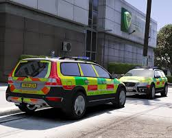 land rover 101 ambulance fire ambulance co responder skin for volvo xc70 gta5 mods com