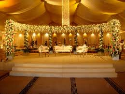 simple wedding stage deco decorating of party