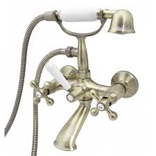 Retro Bathroom Taps Retro Elegant Wall Mounted Antique Brass Bathroom Tap With Shower