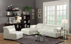 White Leather Sectional Sofa With Chaise Darby Contemporary Leather Sectional Sofa With Wide Chaise