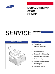 samsung sf 560 and 565p service manual electrostatic discharge