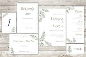 wedding invitation set forest green wedding invitation set invitation templates