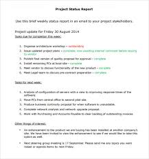 sample report sample project status report template sample