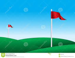 Golf Flags Illustration Of A Golf Flags Stock Illustration Illustration