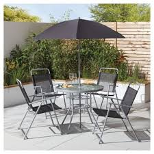 metal outdoor table and chairs buy tesco hawaii garden furniture set 6 piece from our metal garden
