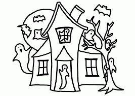 haunted mansion coloring pages cartoon haunted house coloring page