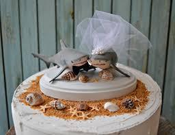 shark wedding cake topper shark lover beach wedding bride and