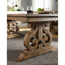 dining room furniture ideas grey acacia dining table best selling home delgado brushed gray
