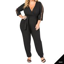 white plus size jumpsuit plus size jumpsuits sleeve v neck office wear