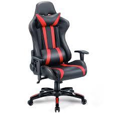 reclining gaming desk chair costway rakuten costway executive racing style high back