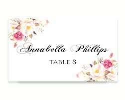 wedding place cards template template cards template wedding place card editable