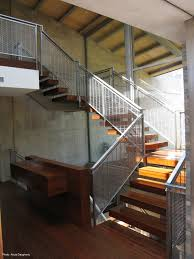 Grand Stairs Design Altamira Residence Woven Wire Mesh Banker Wire Project